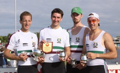 Thames Tradesmen's winning Four with medals